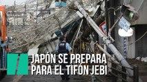 Japón se prepara para 'Jebi', el tifón más violento de los últimos 25 años