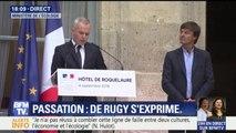 """Passation: """"Je suis ici pour agir"""", assure François de Rugy"""