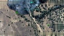 TSK:'Irak kuzeyi Sinath-Haftanin, Zap, Hakurk ve Kandil bölgeleri ile Hakkâri/Yüksekova kırsalına 04 Eylül 2018 tarihinde düzenlenen hava harekâtı neticesinde, bölücü terör örgütü tarafından sığınak/barınak, silah mevzii ve mühimmat deposu o