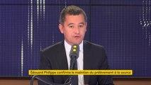 """Prélèvement à la source : """"Ce n'était pas un problème de fond mais un problème de forme"""", assure Gérald Darmanin, le ministre des Comptes publics"""