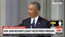 Former President Barack Obama on How John McCain's legacy helps press freedom. #BarackObama #CNN #News #JohnMcCain