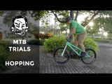 How to English bunnyhop a trials bike - MTB Trials for beginners