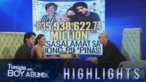 TWBA: KathNiel thank the public for the over flowing support for their movie 'The Hows of Us'