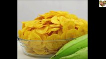 Banana Chips Recipe | How to make Crispy Banana Chips at Home | Banana Wafers