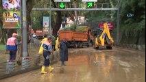 Sarıyer'de Aşırı Yağış Nedeniyle Sarıyer Tüneli Maslak Yönüne Trafiğe Kapatıldı