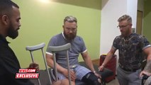 Trent Seven leaves on crutches after suffering leg injury- NXT Exclusive, July 11, 2018