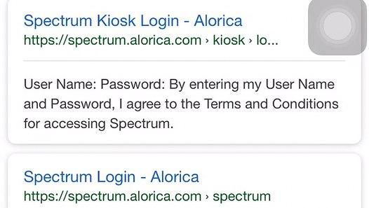Login Process of Spectrum Alorica Kiosk Online - video