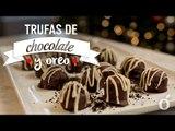 TRUFAS DE CHOCOLATE Y OREO   CHOCOLATE & OREO TRUFFLES   Kiwilimón