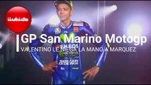 CARRERA SAN MARINO ROSSI NIEGA MANO A MARQUEZ ENTREVISTA POR SEPARADO JORGE LORENZO MotoGP 2018 San Marino GP Missano