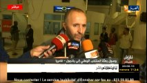 Déclarations de Belmadi à l'arrivée de l'EN à Banjul