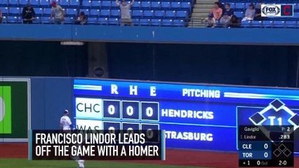 Francisco Lindor Hits 2 Home Runs