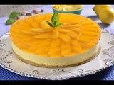 Mousse de Limón con Queso y Gelatina de Mango SIN HORNO