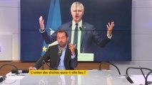 """Laurent Wauquiez """"dit aux électeurs du Front national 'nous voulons vos voix mais - pardonnez-moi de la trivialité - nous ne voulons pas vos gueules'. Ça ne marche plus. L'insincérité constante de Laurent Wauquiez a été démasquée depuis longtemps."""""""
