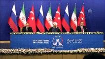 Türkiye-Rusya-İran Üçlü Zirvesi ortak basın toplantısı - Putin - TAHRAN