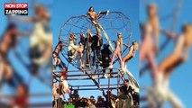 Paris Hilton agite ses jolies fesses au Burning Man (vidéo)