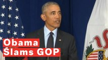 Obama Slams Republicans For Fostering A Culture Of 'Paranoia And Resentment'