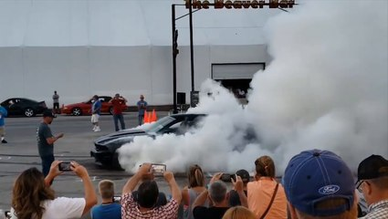 Mustang Burns Out Into A Fireball