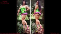 Michelle Jin IFBB Pro - Beautiful Muscle Mom Flexing Her Calves muscles.