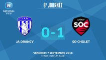 J6 : JA Drancy - SO Cholet (0-1), le résumé