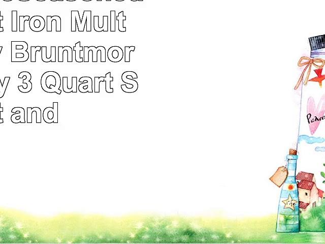 Ultimate PreSeasoned 2In1 Cast Iron MultiCooker By Bruntmor  Heavy Duty 3 Quart