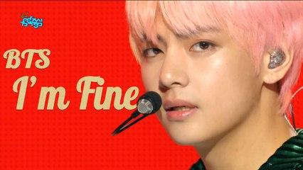 [HOT]BTS -  I'm Fine , 방탄소년단 - I'm Fine Show Music core 20180908