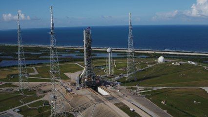 NASA's SLS Mobile Launcher Travels to Pad 39B for Fit Checks (4k60)