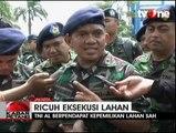 Eksekusi Lahan TNI AL di Kepala Gading Ricuh
