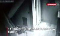 Kadıköy'de hırsızlar kameraya takıldı