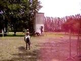 Au double poney avec Djin au galop le 25 juillet 2007