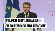 """Violences à La Réunion : Emmanuel Macron sera """"intraitable"""""""