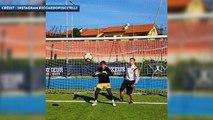 Les entraînements très spéciaux du gardien italien Riccardo Piscitelli