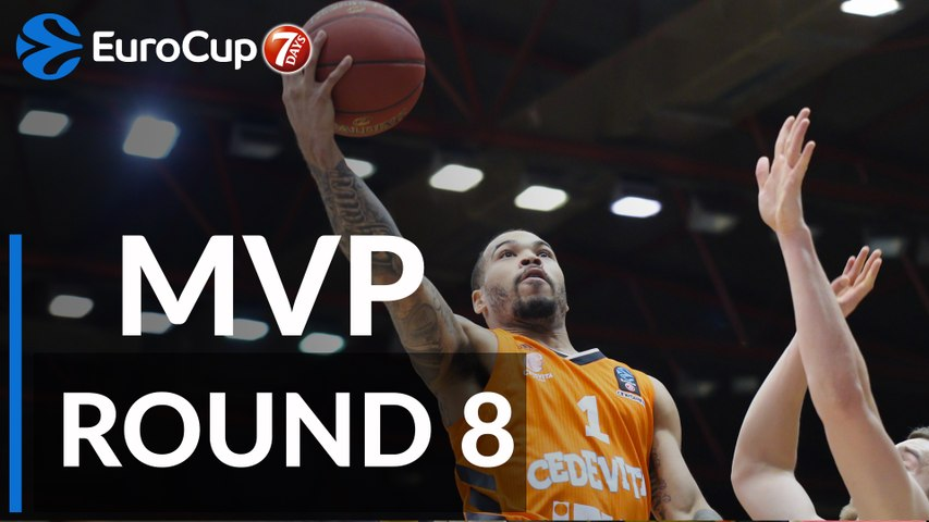 7DAYS EuroCup Regular Season Round 8 MVP: Justin Cobbs, Cedevita Zagreb