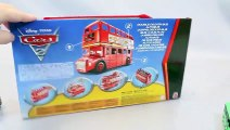 Disney Cars Car Carrier London Bus Tayo the Little Bus Learn Colors Numbers Toys