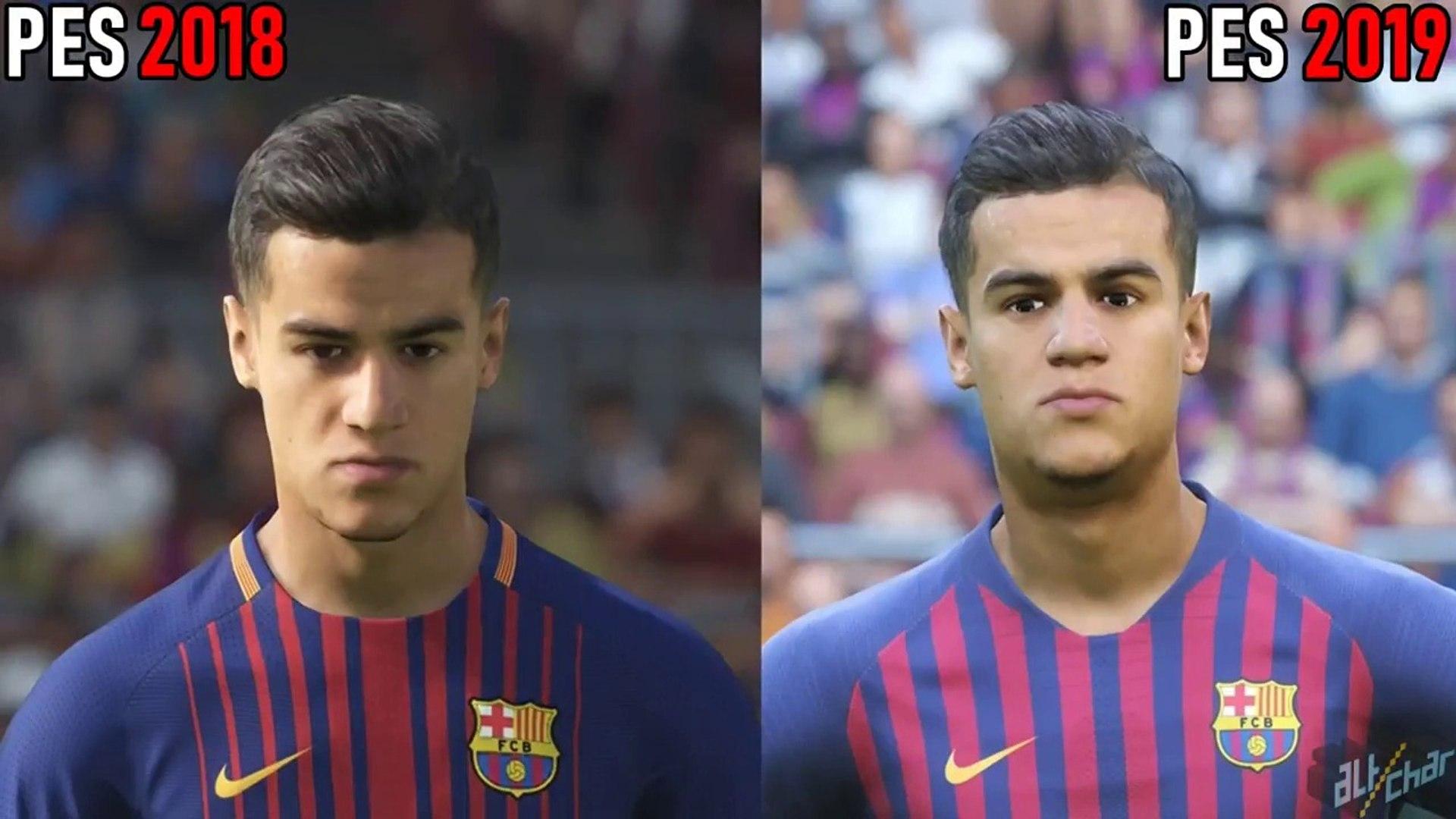 PES 2019 vs PES 2018 Graphics Comparison (PS4 Pro)