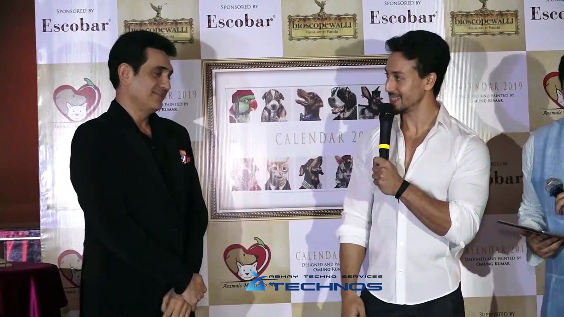 Tiger Shroff At Special Charity Event Calendar Hand Painted By Omung Kumar