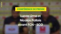 Lucas Lima et Nicolas Pallois avant FC Nantes - Angers SCO