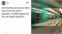 Elle accouche dans le métro parisien, son bébé voyagera 25 ans gratuitement.