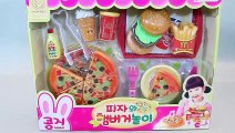 Toy Velcro Cutting Pizza Learn Fruits English & Play Doh Baby Doll Surprise Eggs Toys