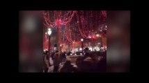 Les Champs-Élysées en rouge pour les illuminations de Noël