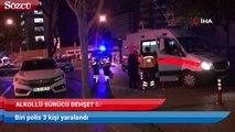 Başkent'te alkollü sürücü dehşeti! Biri polis 3 yaralı