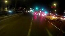 Vatan Caddesinde Kaza Atlatan Motorcuların Tepkisi Sert Oldu