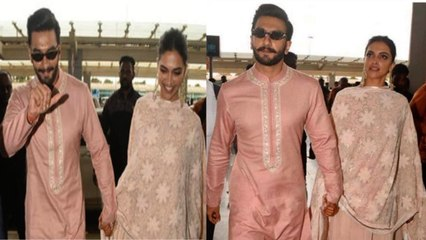 Ranveer Deepika come back For their GRAND WEDDING Reception In Mumbai