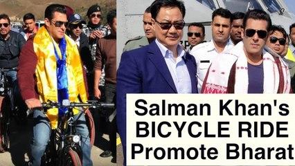 Salman Khan goes cycling in Arunachal Pradesh with chief minister Pema Khandu