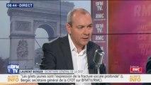 """""""Les revendications sont trop floues."""" Laurent Berger (CFDT) n'appelle pas à manifester demain à Paris avec les gilets jaunes"""