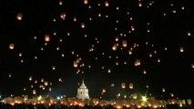 Thailande: des milliers de lanternes dans le ciel pour une fête