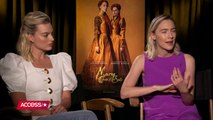 (Adoring Margot Robbie) Interview of Margot Robbie and Saoirse Ronan for Access Hollywood (2018)