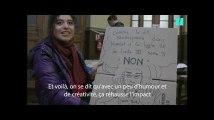 Des marcheurs du 24 novembre expliquent ce qu'ils ont écrit sur leurs pancartes