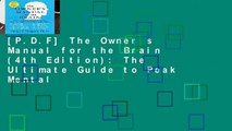 owner manual for the brain pdf