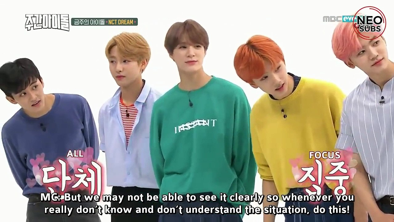 [NEOSUBS] 180905 WEEKLY IDOL WITH NCT DREAM Part 1
