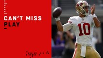 Can't-Miss Play: Jimmy G spins out of pressure for incredible TD pass to Pettis